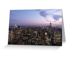 NYC Empire State and Chrysler Building Twilight  Greeting Card