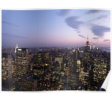 NYC Empire State and Chrysler Building Twilight  Poster