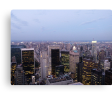 NYC Skyscrapers at Twilight Canvas Print