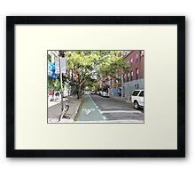 Quiet Manhattan NYC Street Framed Print
