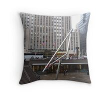 NYC Manhattan Streetscape with Angles Throw Pillow