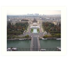 View from the Eiffel Tower Art Print