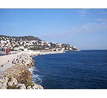 French Riviera Coastline Photographic Print