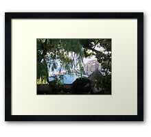 View of Monaco Through the Brush Framed Print