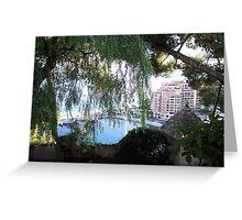 View of Monaco Through the Brush Greeting Card