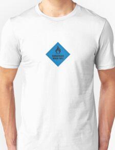 Dangerous when wet. Unisex T-Shirt