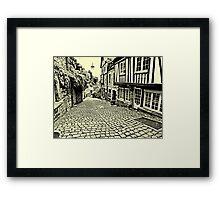 Dinan streetscape Framed Print