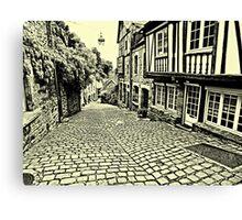 Dinan streetscape Canvas Print