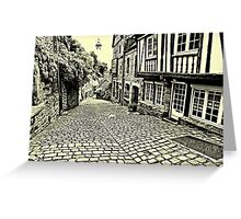 Dinan streetscape Greeting Card