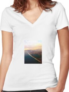 San Francisco Coast Women's Fitted V-Neck T-Shirt