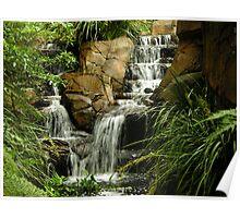 hidden waterfall landscape Poster