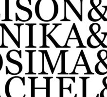 &Clones (v1) - black text Sticker