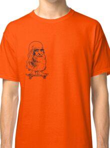 Leonado Skateboard Sml Blue Classic T-Shirt