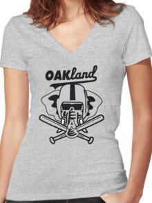 OAKland Women's Fitted V-Neck T-Shirt