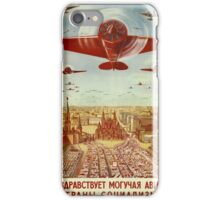 Vintage poster - Russian plane iPhone Case/Skin