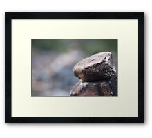 Stacked Rocks Close Up Framed Print