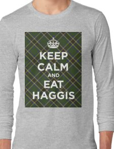 Keep calm, eat haggis Scottish tartan Long Sleeve T-Shirt