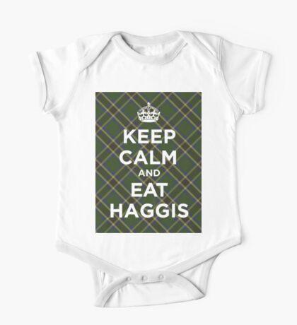 Keep calm, eat haggis Scottish tartan One Piece - Short Sleeve