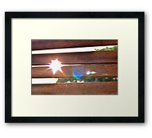 Sun and Wood Framed Print