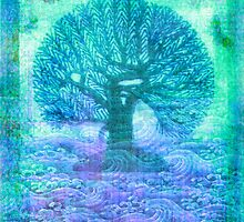 Tree of Life mixed media by goldenslipper