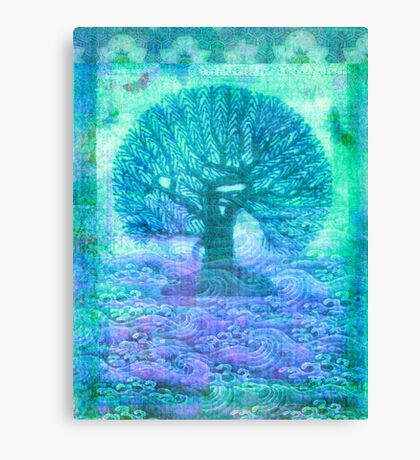 Tree of Life mixed media Canvas Print