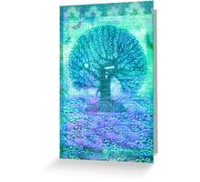 Tree of Life mixed media Greeting Card