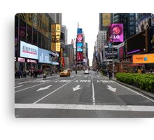 NYC Street towards Times Square Canvas Print
