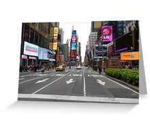 NYC Street towards Times Square Greeting Card