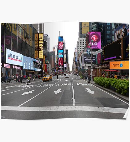 NYC Street towards Times Square Poster