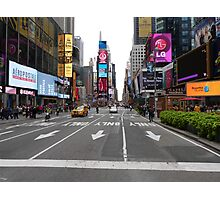 NYC Street towards Times Square Photographic Print