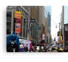 NYC Street with Signs Canvas Print