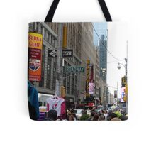 NYC Street with Signs Tote Bag