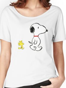 Snoopy and woodstock walking Women's Relaxed Fit T-Shirt