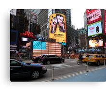 NYC - US Flag in Lights Canvas Print