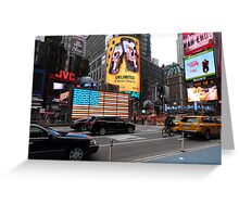 NYC - US Flag in Lights Greeting Card