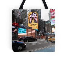 NYC - US Flag in Lights Tote Bag