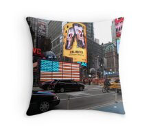 NYC - US Flag in Lights Throw Pillow