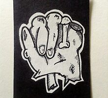 "Zombie Hand ""A"" by BenVess"