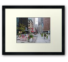 NYC Street Alfresco Framed Print