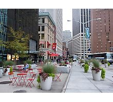 NYC Street Alfresco Photographic Print