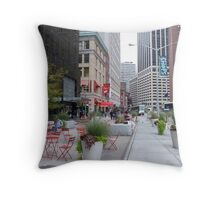 NYC Street Alfresco Throw Pillow