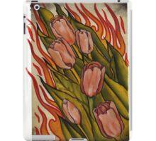 pink tulips in flames iPad Case/Skin