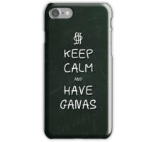 Keep Calm and Have Ganas - Green Chalkboard iPhone Case/Skin