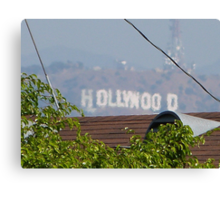 Hollywood through the Trees Canvas Print