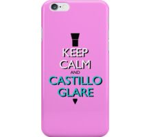 Keep Calm and Castillo Stare (Miami Vice - Pink) iPhone Case/Skin