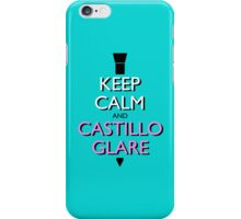 Keep Calm and Castillo Stare (Miami Vice - Aqua) iPhone Case/Skin