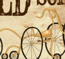 Old School Bike Sticker