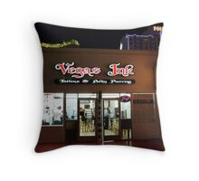 Vegas Ink Throw Pillow