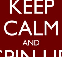 Keep Calm and Spin Up The FTL (Red) Sticker