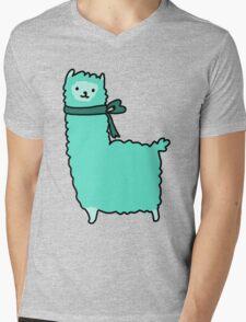 Bow Alpaca Mens V-Neck T-Shirt